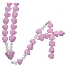 Chapelets et boîte chapelets: Chapelet Médjugorje céramique cuite rose grains 8  mm
