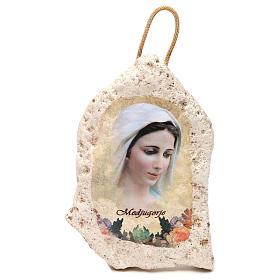 Imagen de yeso de la Virgen de Medjugorje 13x9 cm s1