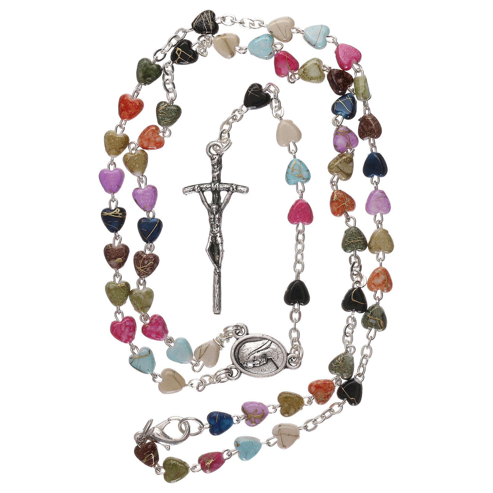 Chapelet collier de Medjugorje multicolore avec fermoir 4