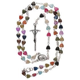 Chapelet collier de Medjugorje multicolore avec fermoir s4