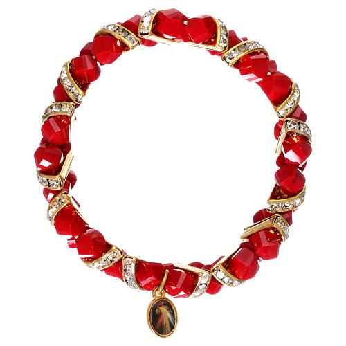 Bracciale rosso Medjugorje in vetro 2