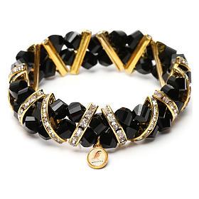 Bracelet noir Medjugorje en verre s4