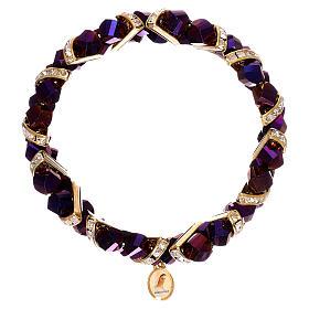 Bracelets, dizainiers: Bracelet noir aurore boréale Medjugorje en verre