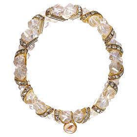Bracelets, dizainiers: Bracelet transparent Medjugorje en verre