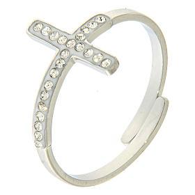 Bracelets, dizainiers: Bague Medjugorje acier croix argentée