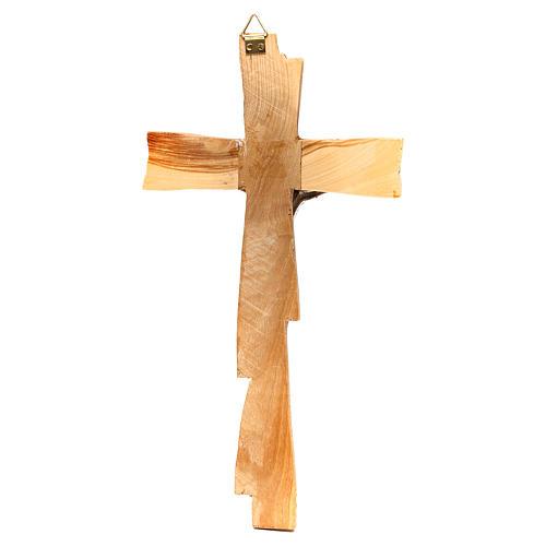 Crocifisso in ulivo argentato Medjugorje 20x10 cm 4