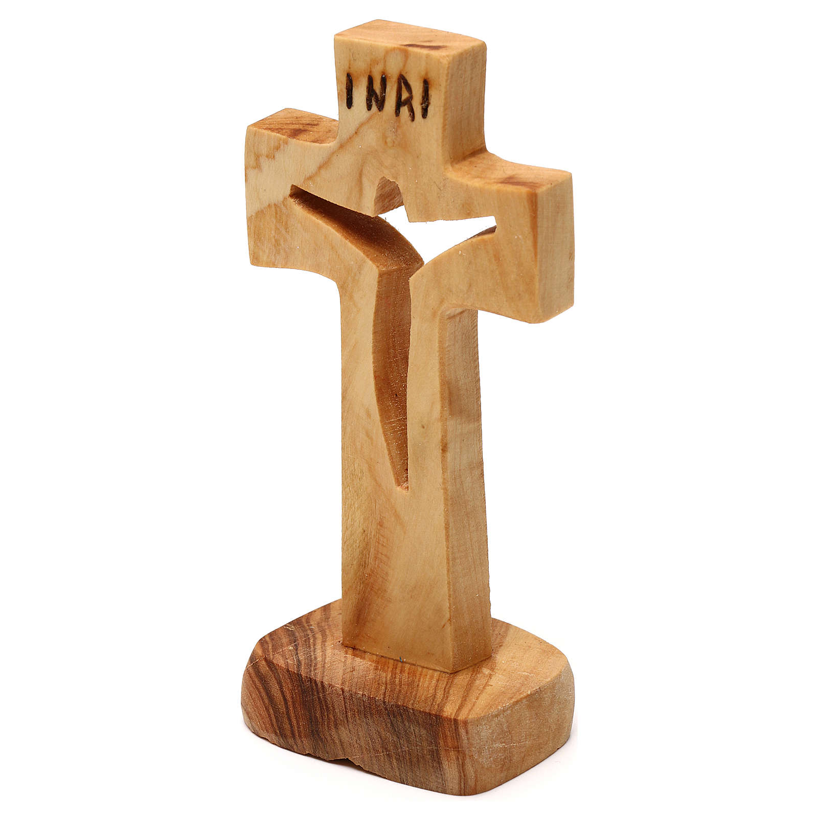 Croce Medjugorje ulivo intagliato Medjugorje 12x6 cm 4