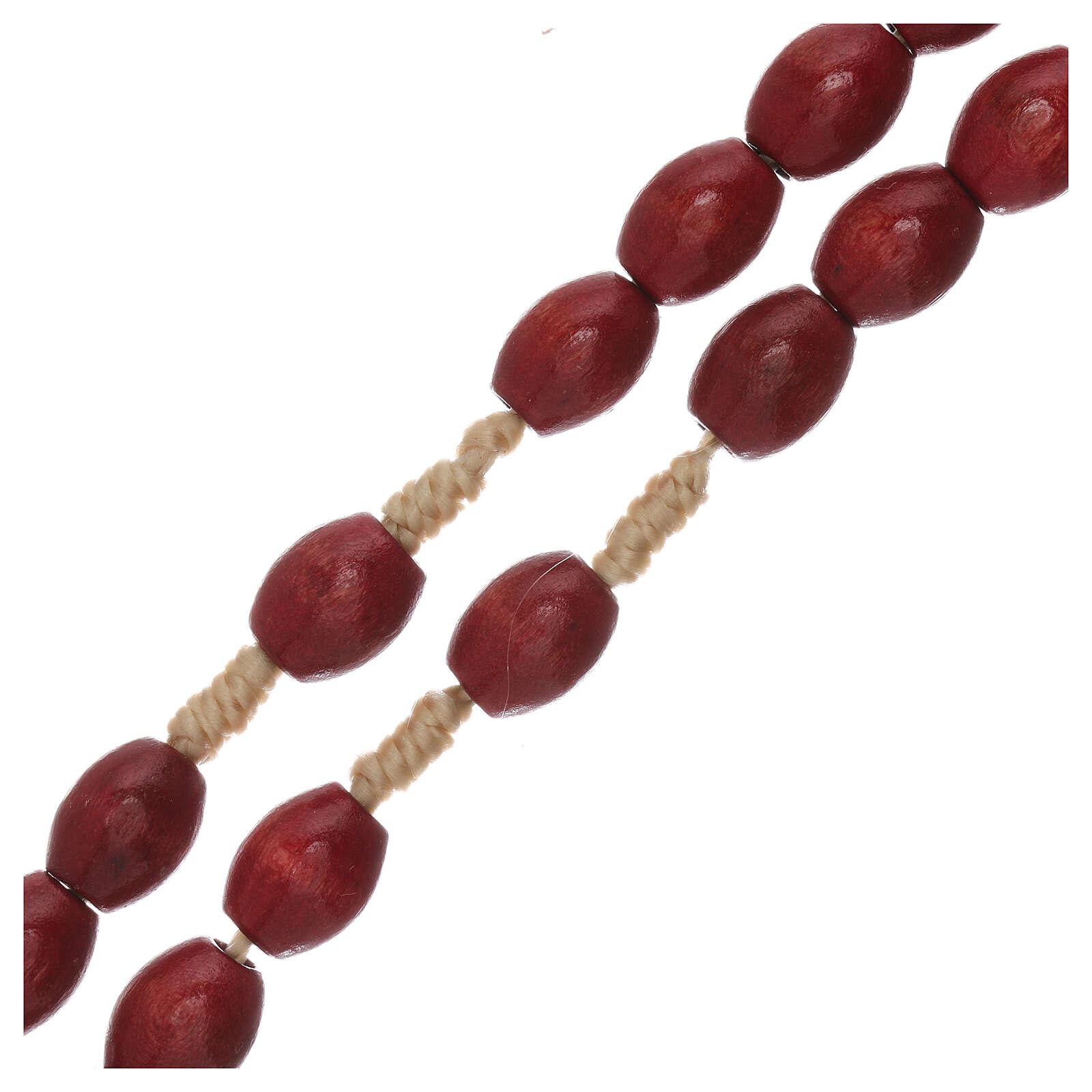 Rosario Medjugorje madera roja XP 4