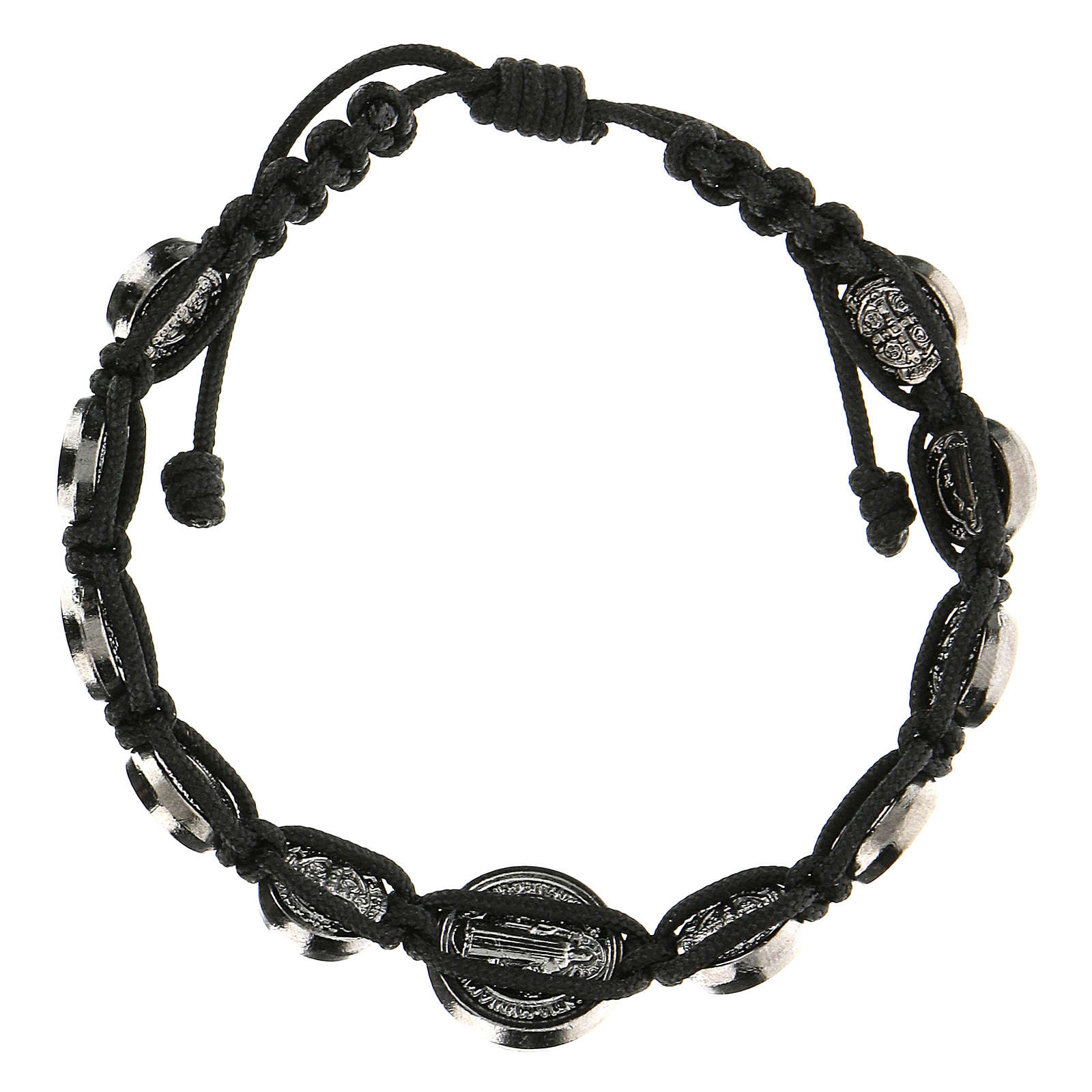 Bracelet corde médailles Saint Benoît Medjugorje 4