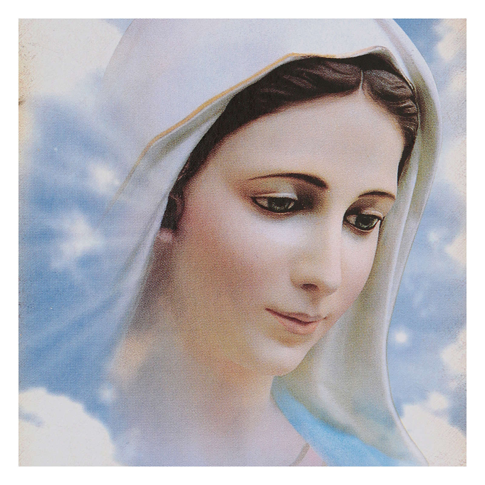 Quadretto faesite Madonna Medjugorje 15x10 cm 4