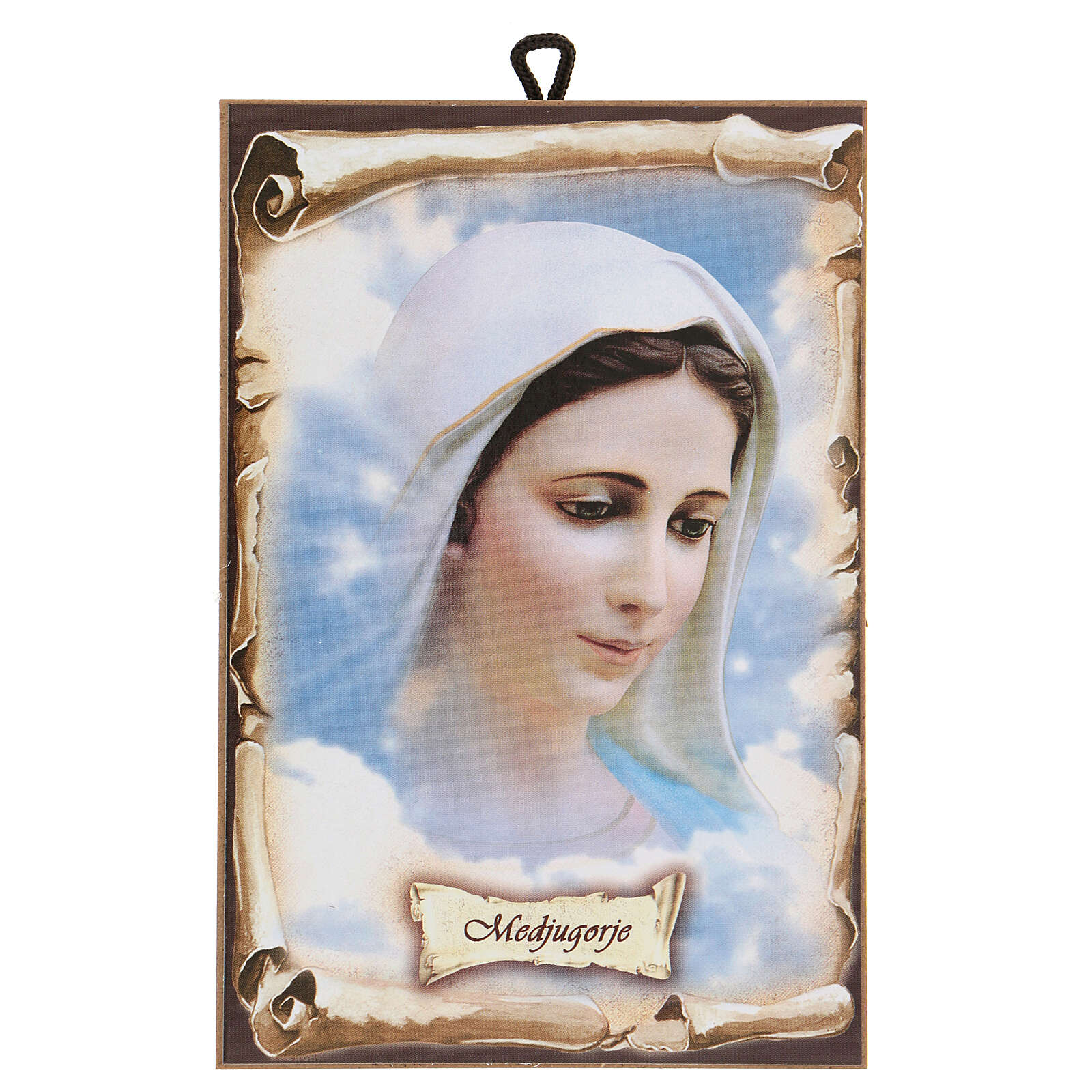 Our Lady of Medjugorje picture hardboard 15x10 cm 4