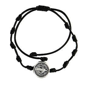 Bracelet corde médaille Saint Benoît Medjugorje s1