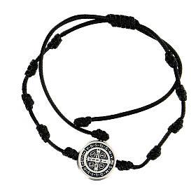 Bracelet corde médaille Saint Benoît Medjugorje s2