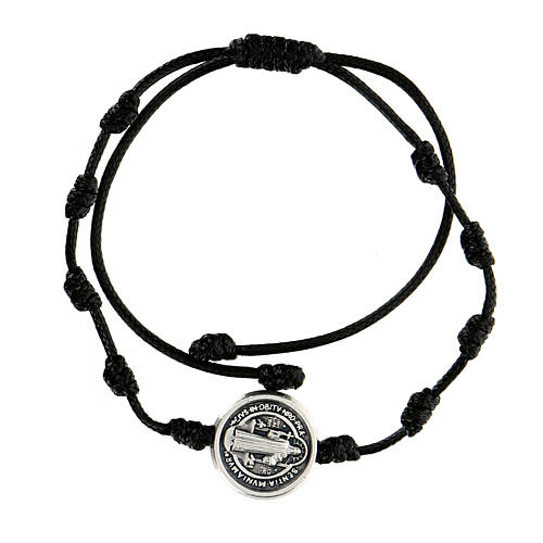 Bracelet corde médaille Saint Benoît Medjugorje 1