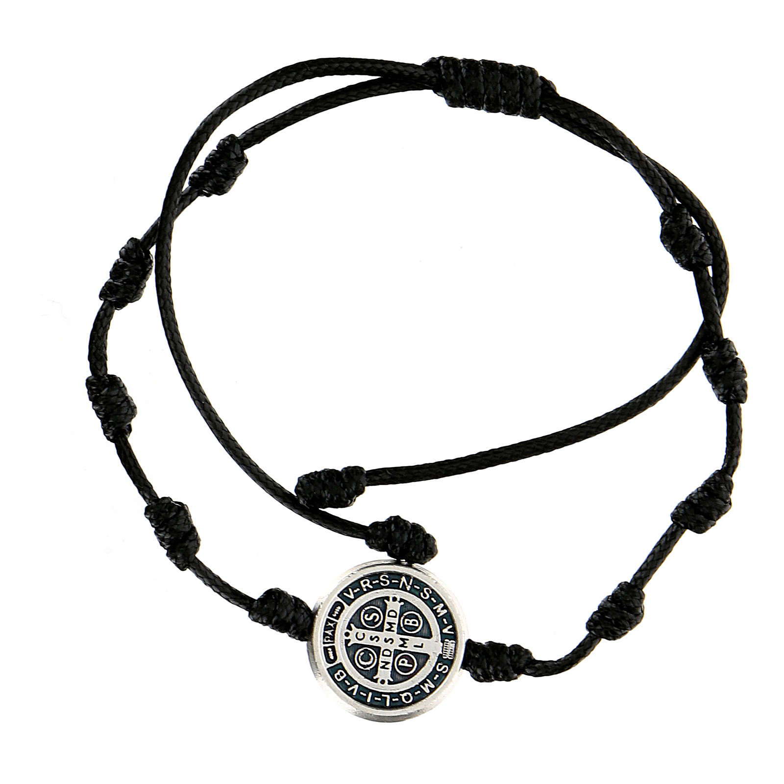 Bracciale corda medaglia San Benedetto Medjugorje 4