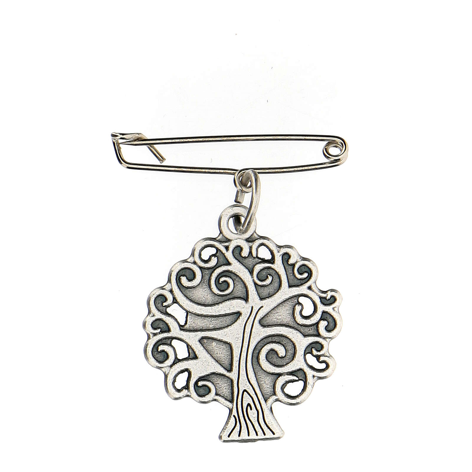 Broche Virgen Medjugorje árbol vida 4