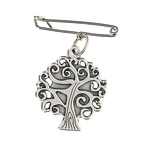 Broche Virgen Medjugorje árbol vida 2