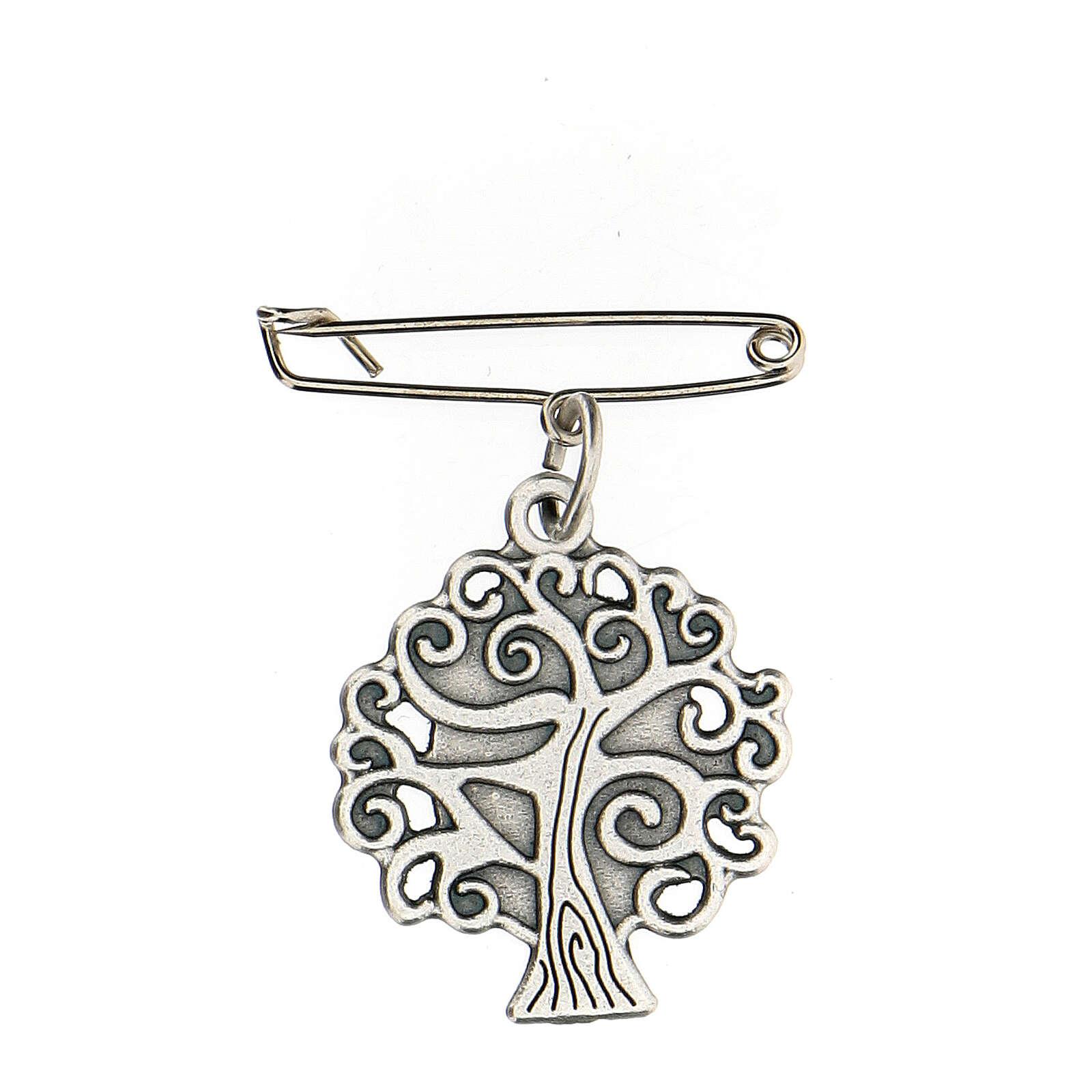 Spilla Madonna Medjugorje albero vita 4