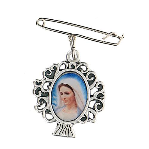 Spilla Madonna Medjugorje albero vita 1