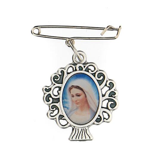 Spilla Madonna Medjugorje albero vita 3