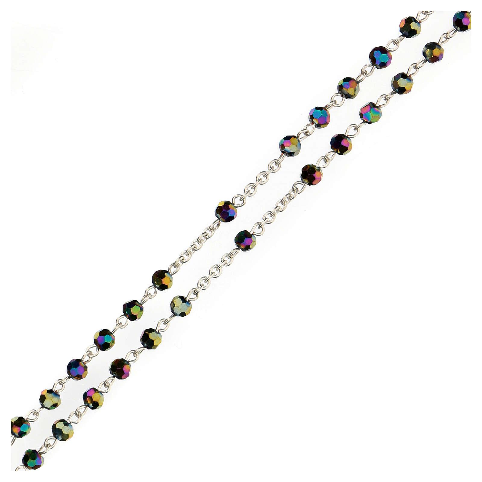 Rosario perline iridescenti Medjugorje 4