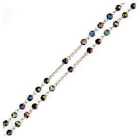 Rosario perline iridescenti Medjugorje s7