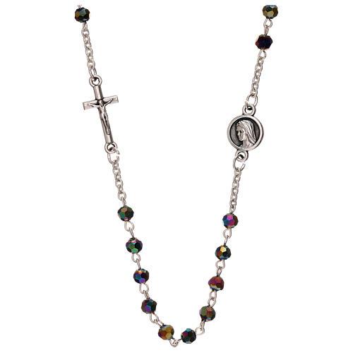 Rosario perline iridescenti Medjugorje 1