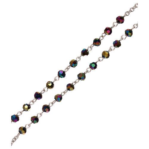 Rosario perline iridescenti Medjugorje 3