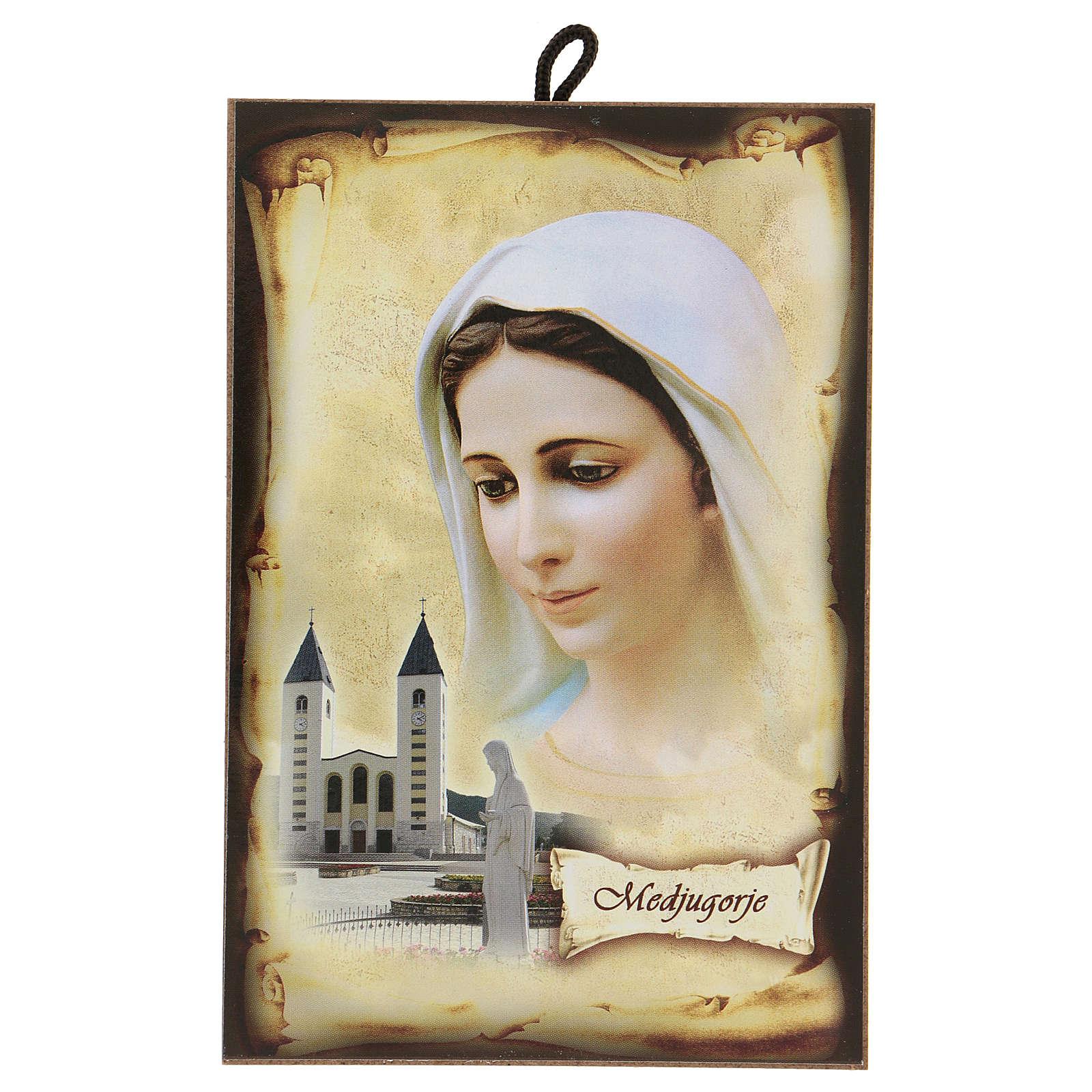 Imagen Medjugorje Virgen Iglesia San Jaime 15x10 cm 4