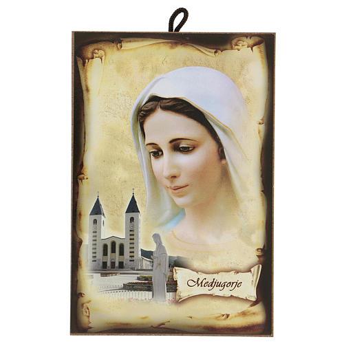 Imagen Medjugorje Virgen Iglesia San Jaime 15x10 cm 1
