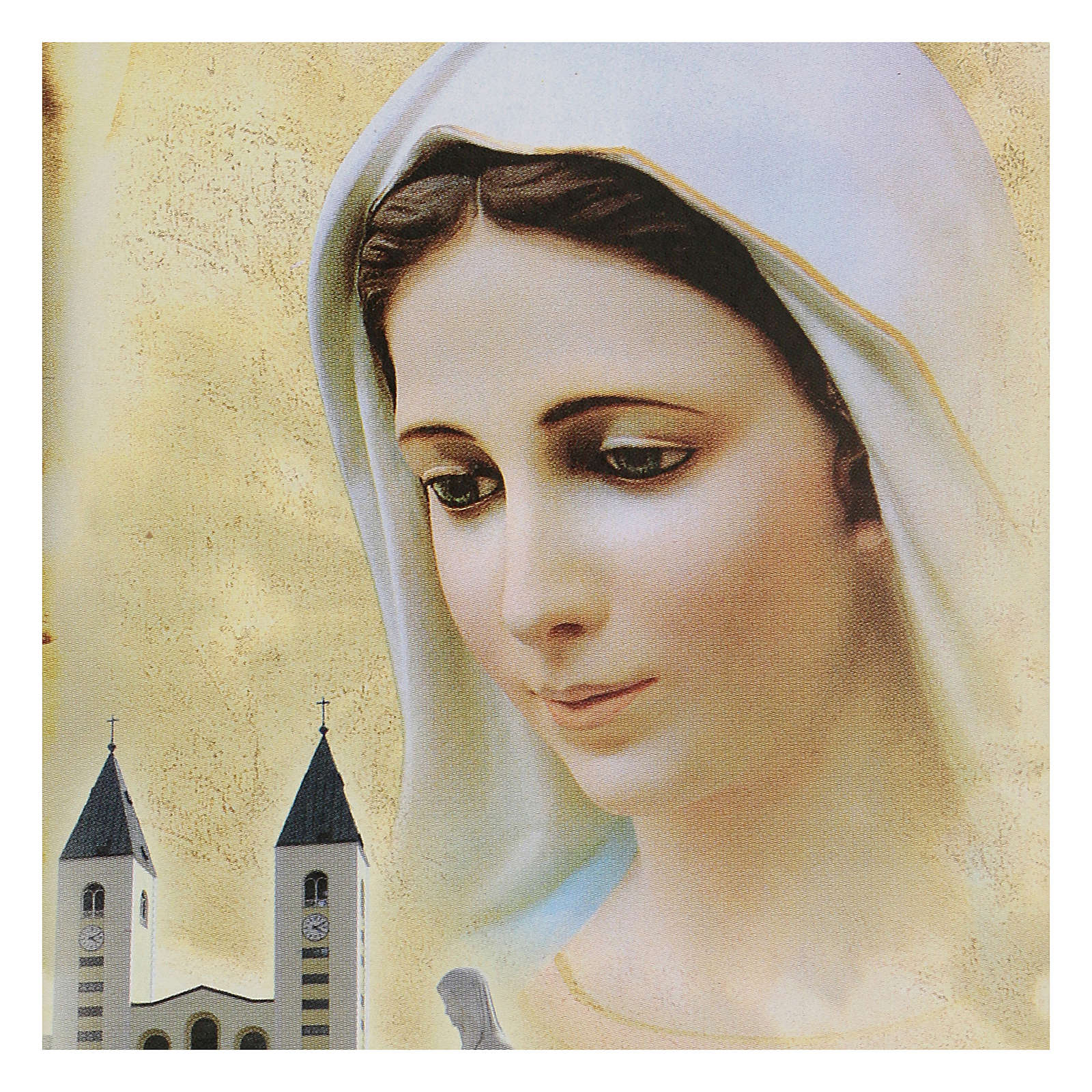 Immagine Medjugorje Madonna Chiesa San Giacomo 15x10 cm 4