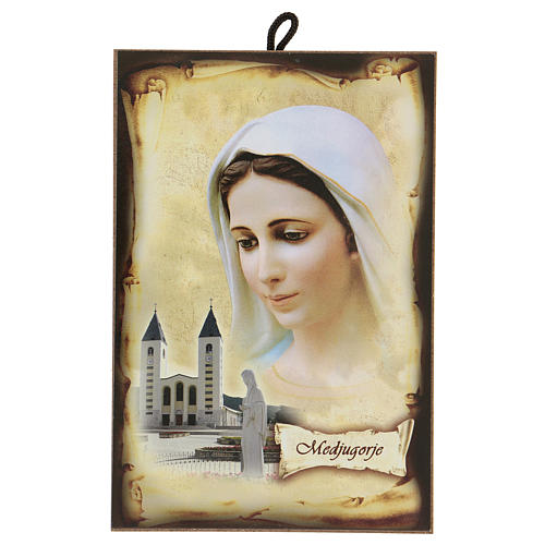 Immagine Medjugorje Madonna Chiesa San Giacomo 15x10 cm 1
