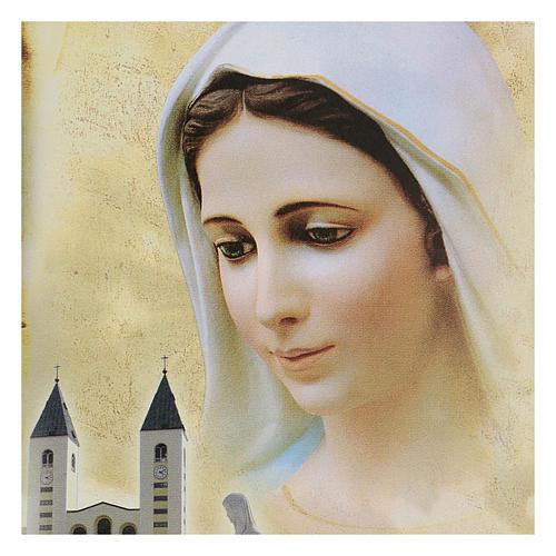 Immagine Medjugorje Madonna Chiesa San Giacomo 15x10 cm 2