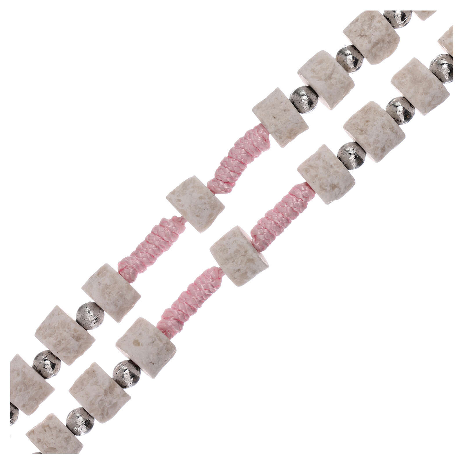 Rosario piedra blanca rosa Medjugorje 4