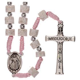 Rosario pietra bianca rosa Medjugorje s2
