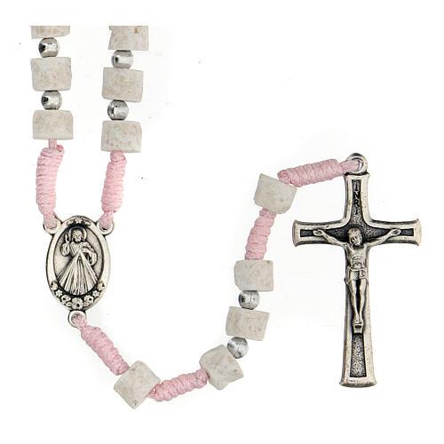 Rosario pietra bianca rosa Medjugorje 5