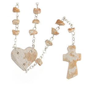 Rosario pietra rossa Medjugorje cuore immagine Madonna s2