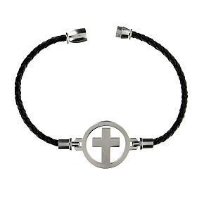 Bracelet Medjugorje argent noir s3