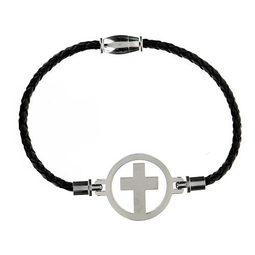Bracelet Medjugorje argent noir 1