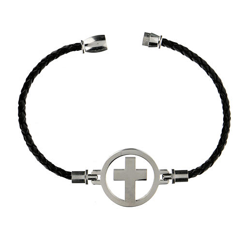 Bracelet Medjugorje argent noir 3