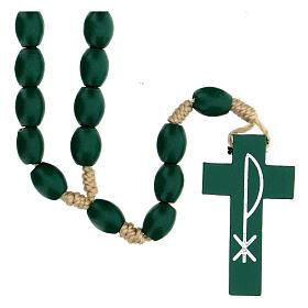 Green wood Medjugorje rosary s1