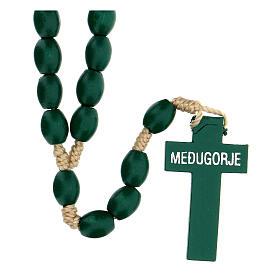 Green wood Medjugorje rosary s2