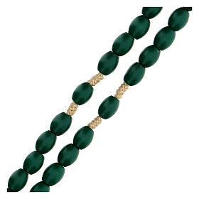 Green wood Medjugorje rosary s3