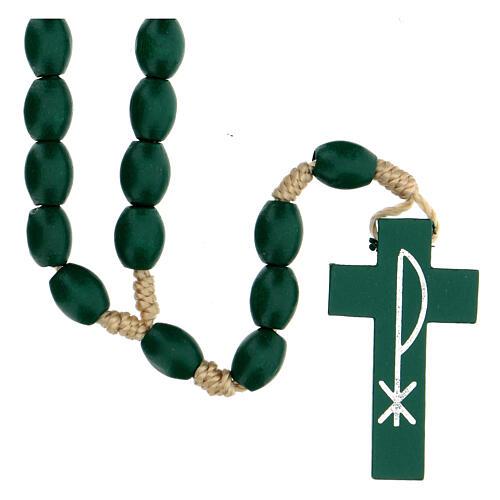Green wood Medjugorje rosary 1