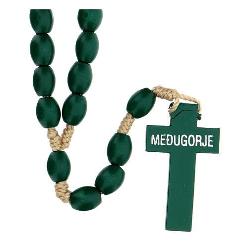 Green wood Medjugorje rosary 2