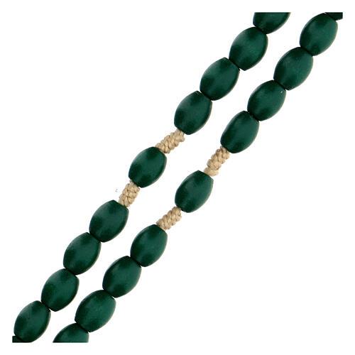 Green wood Medjugorje rosary 3