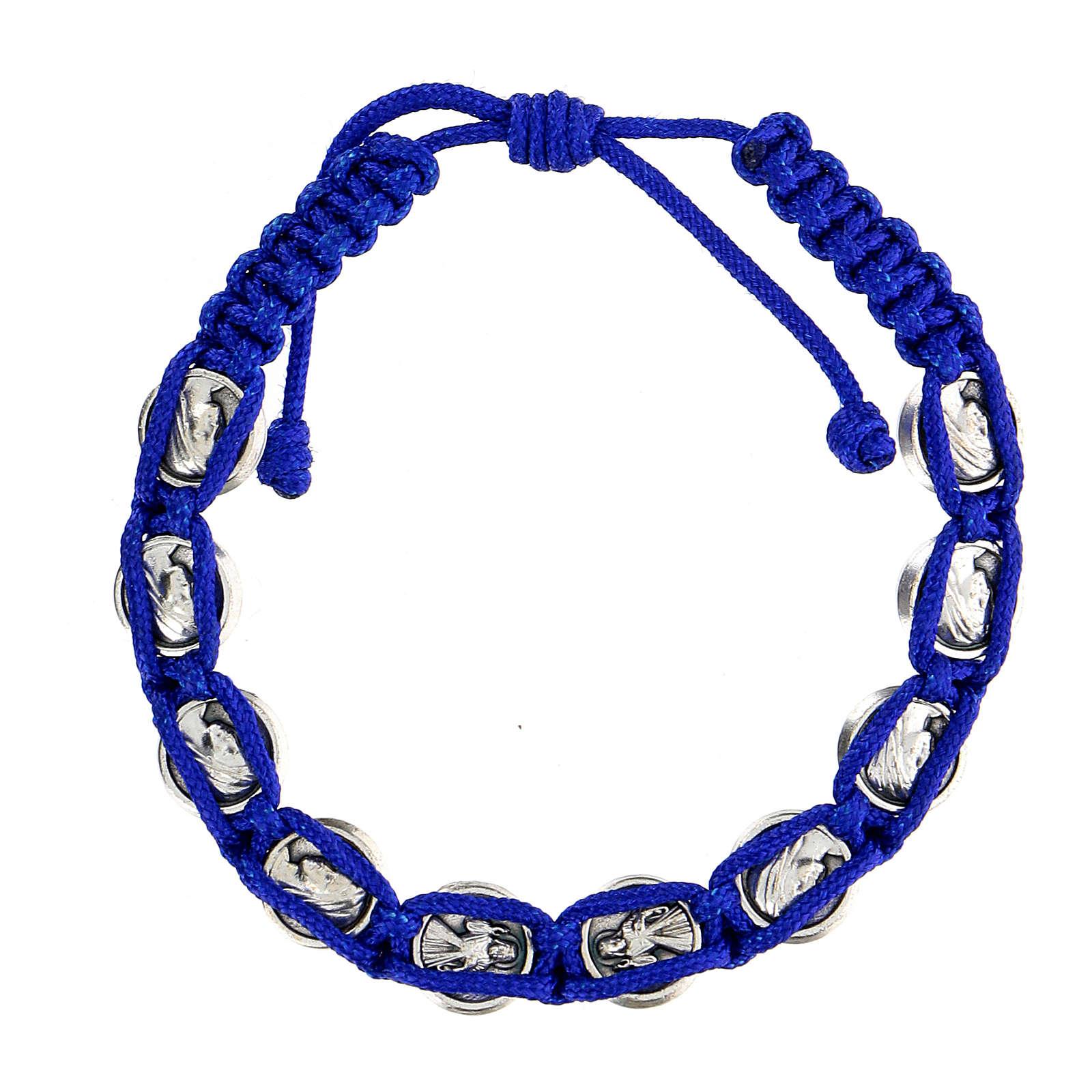 Pulsera cuerda símbolos Medjugorje esmalte 4