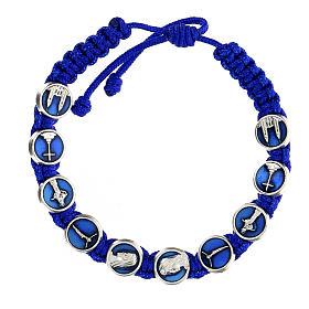 Bracelet corde symboles Medjugorje émail s1