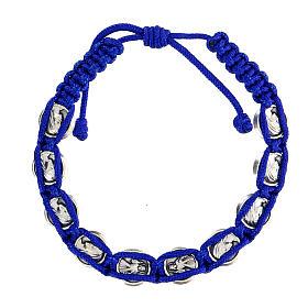 Bracciale corda simboli Medjugorje smalto s2