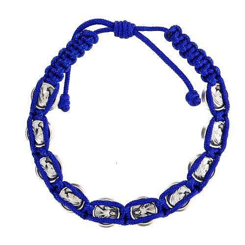 Bracciale corda simboli Medjugorje smalto 2